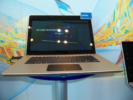 Дизайн ультрабука производства Inventec, построенный на Ivy Bridge