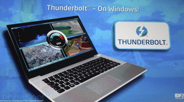 Быстрый порт Thunderbolt появится на ПК в 2012