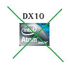 Процессоры Atom D2500 и Atom D2700 не поддерживают DirectX 10
