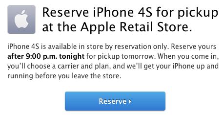 iPhone 4S в американских Apple Store можно купить только по предзаказу.
