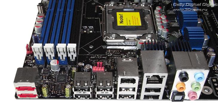 Intel DX58SO задняя панель
