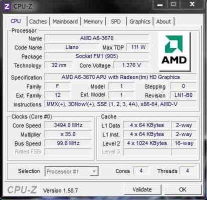 Разгонный потенциал разблокированного APU A6-3670