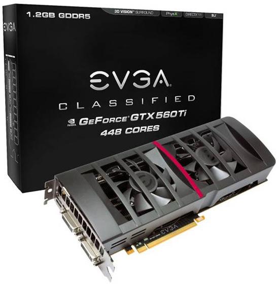 EVGA GeForce GTX 560 Ti 448 Cores Classified