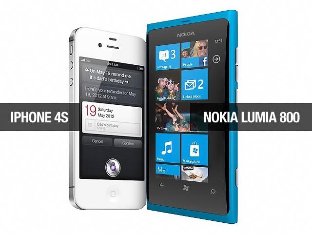 iPhone 4S и Nokia 800