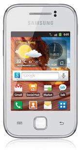White Samsung Galaxy Y S5360