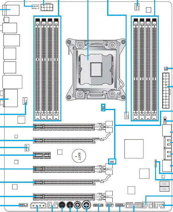 MSI X79A-GD65 (8D) схема