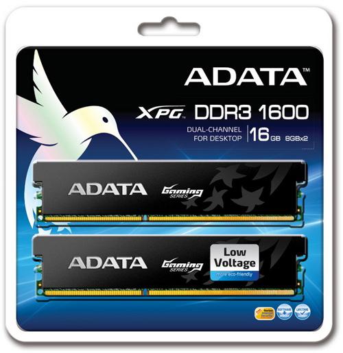 ADATA XPG Gaming Series DDR3-1600 16GB Memory Kit