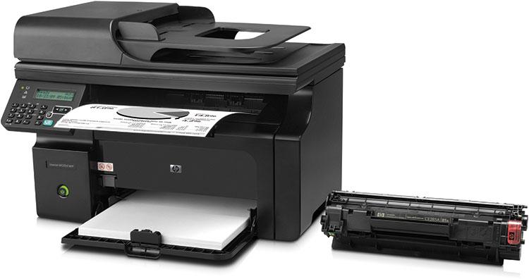 МФУ HP LaserJet Pro M1212nf RU,формат A4,лазерный ce841a.