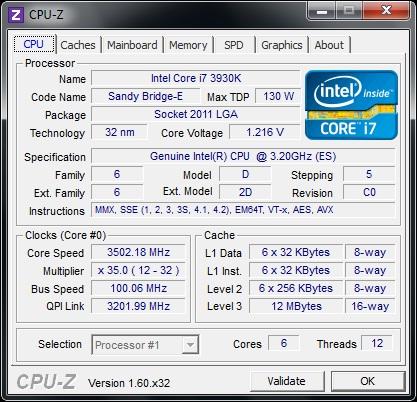 ASUS P9X79 штатная частота