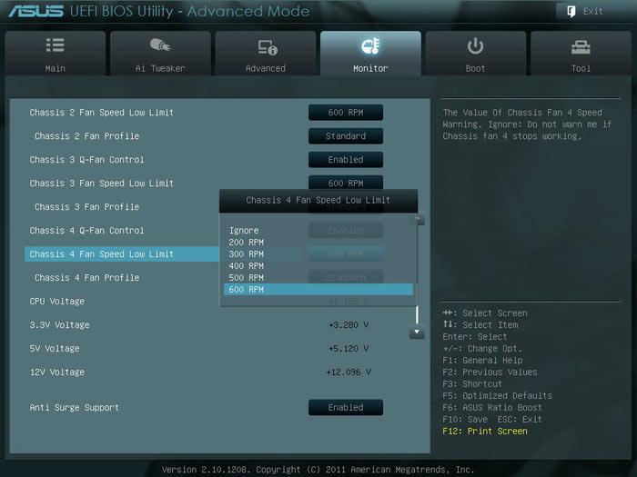 ASUS P9X79 системный мониторинг 2