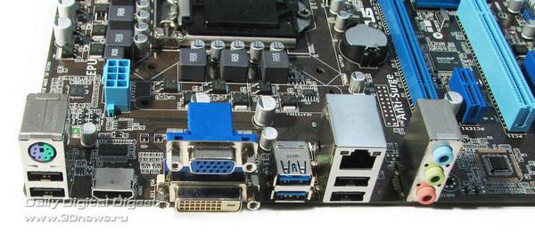 ASUS P8H77-M LE задняя панель