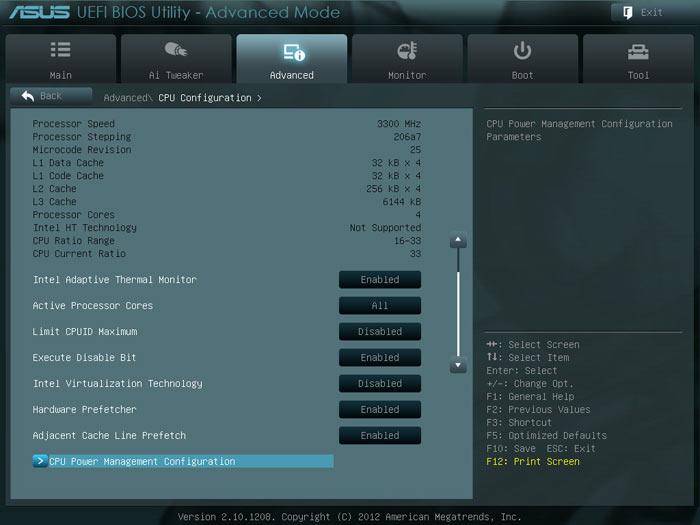 ASUS P8H77-M LE BIOS CPU2