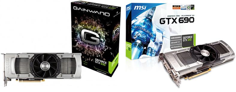 Gainward GeForce GTX 690 and MSI N690GTX-P3D4GD5