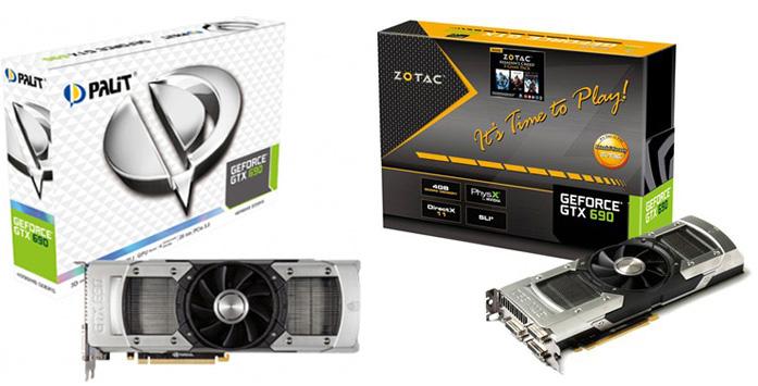 Palit GeForce GTX 690 and ZOTAC GeForce GTX 690