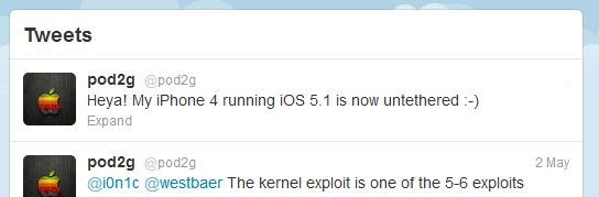 Непривязанный джейлбрейк для iOS 5.1 готов / Новости software.