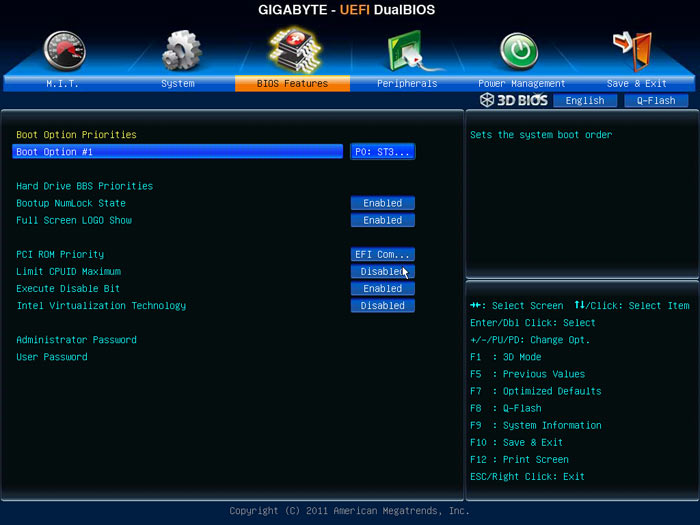 Gigabyte Z77X-UD5H BIOS2