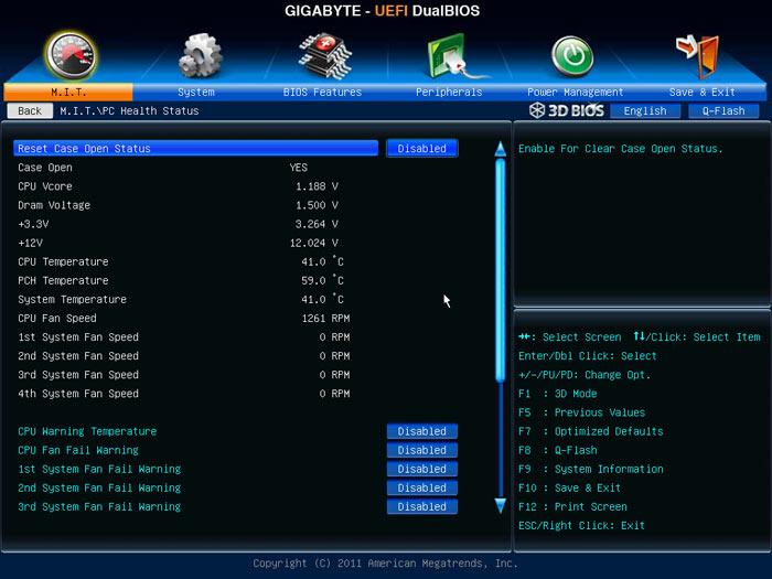 Gigabyte Z77X-UD5H системный мониторинг 1