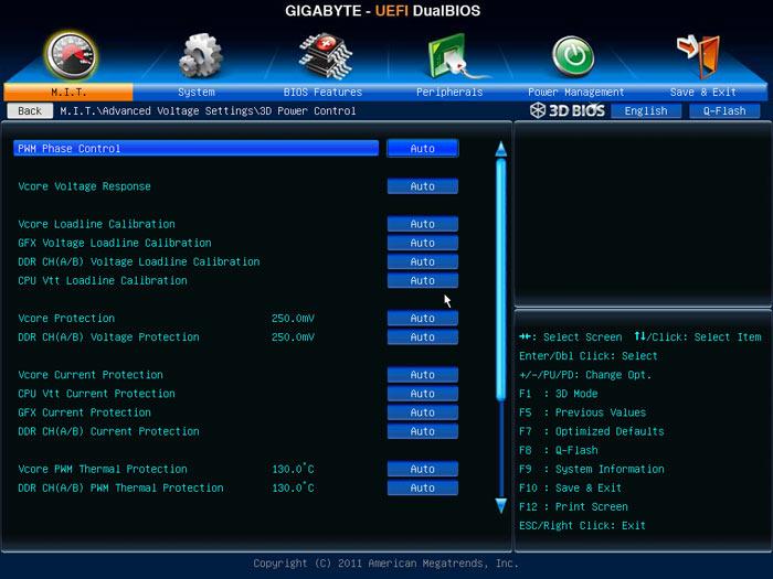 Gigabyte Z77X-UD5H настройки разгона 2
