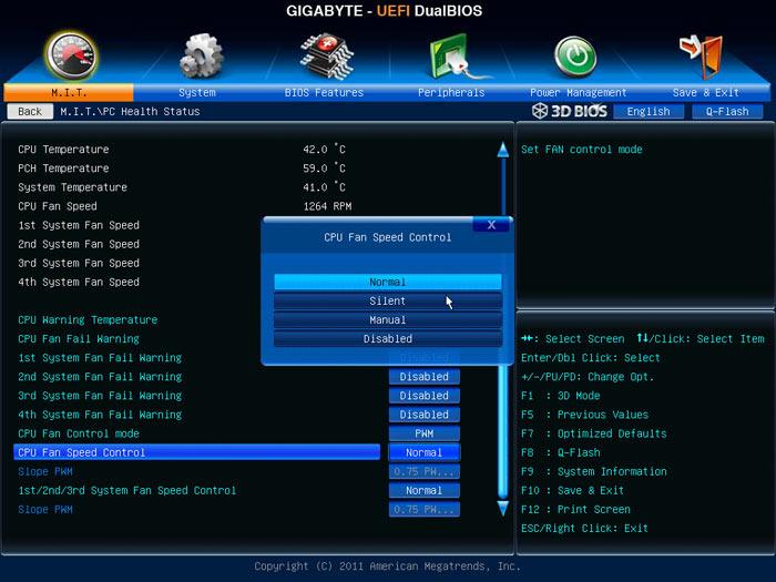 Gigabyte Z77X-UD5H системный мониторинг 2