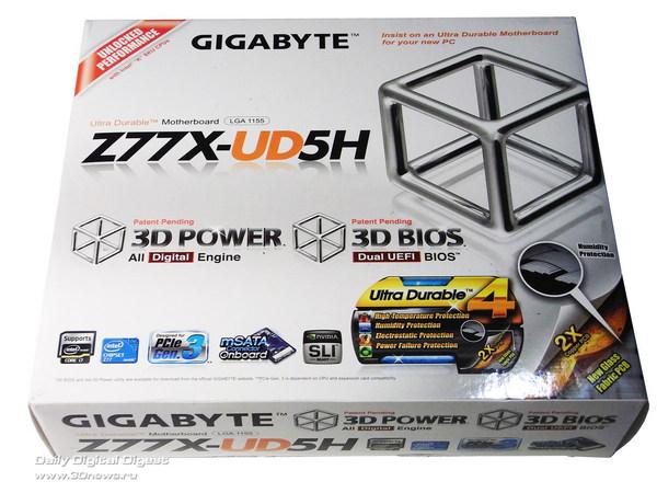 Gigabyte Z77X-UD5H упаковка