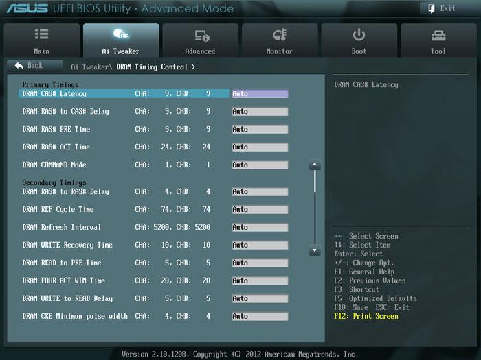 ASUS Sabertooth Z77 настройки памяти 1
