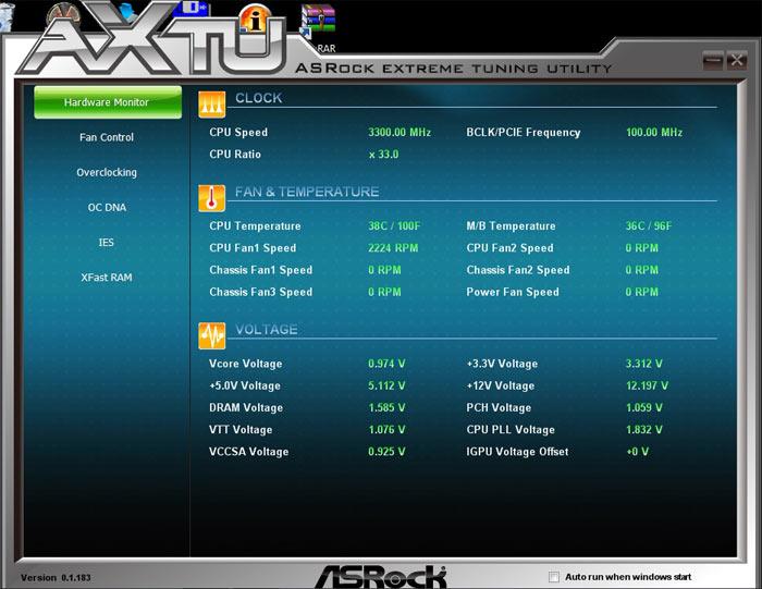 ASRock Z77 Extreme6 системный мониторинг 3