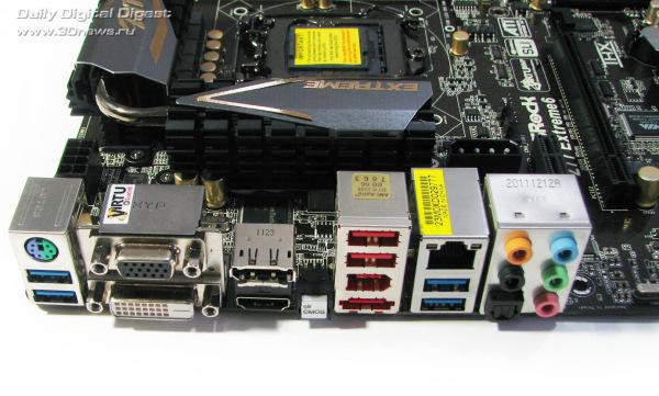 ASRock Z77 Extreme6 задняя панель