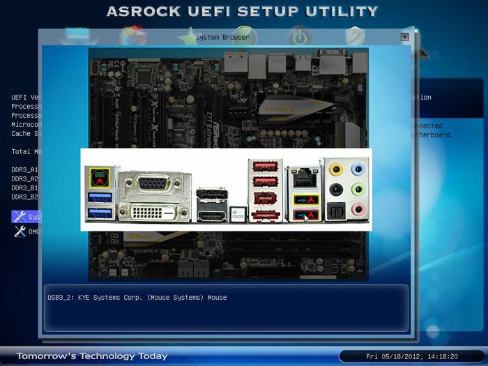 ASRock Z77 Extreme6 BIOS browser 2