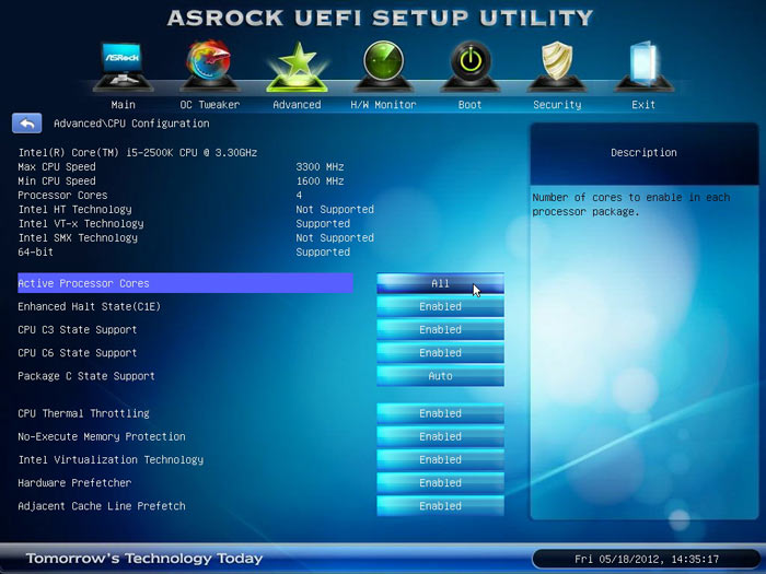 ASRock Z77 Extreme6 CPU 1