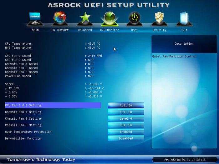 ASRock Z77 Extreme6 системный мониторинг 1