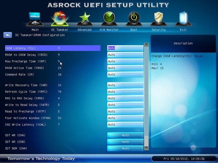 ASRock Z77 Extreme6 настройки памяти 1