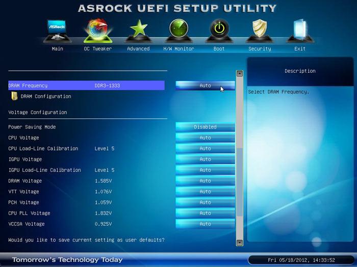 ASRock Z77 Extreme6 настройки разгона 2