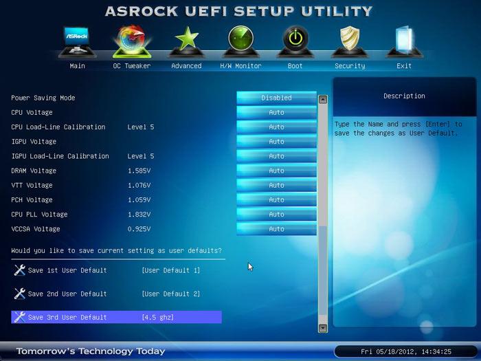 ASRock Z77 Extreme6 profiles