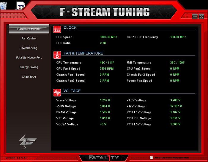 ASRock Fatal1ty X79 Professional системный мониторинг 3