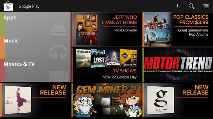 Google TV получит подписку, поддержку покупок фильмов и передач в Google Play