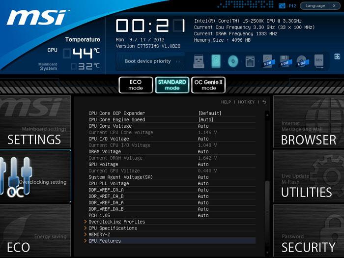 MSI Z77A-GD80 настройки разгона 2