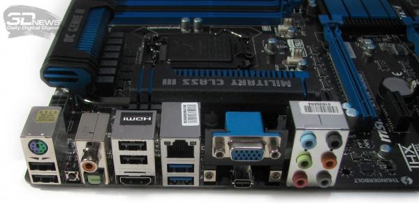MSI Z77A-GD80 задняя панель