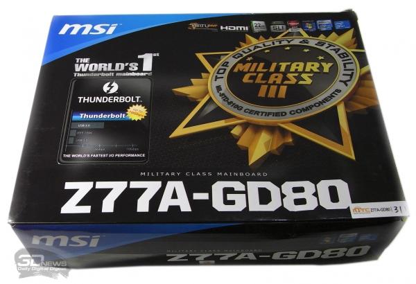 MSI Z77A-GD80 упаковка