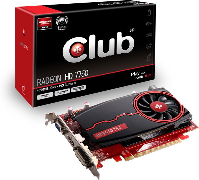 Club 3D Radeon HD 7750 4GB DDR3