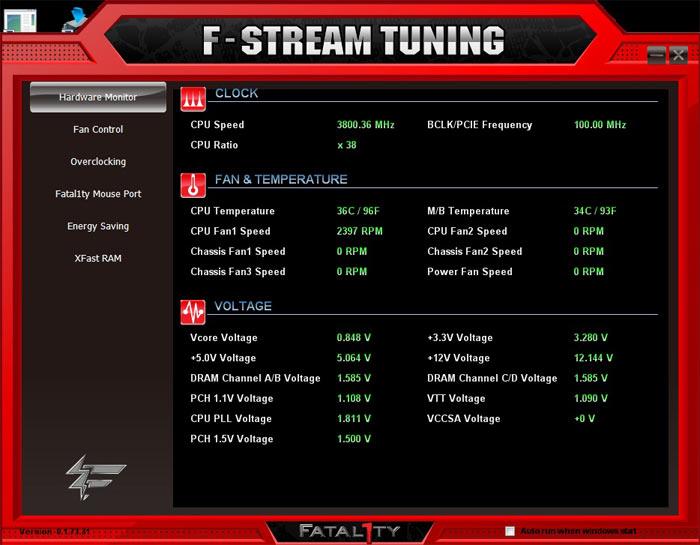 ASRock Fatal1ty X79 Champion системный мониторинг 3