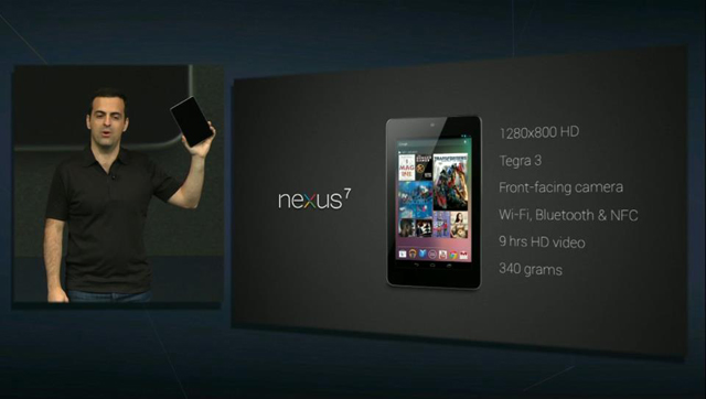 12 октября в России стартуют продажи планшета Nexus 7
