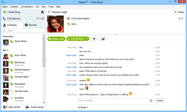 Windows 8 Skype
