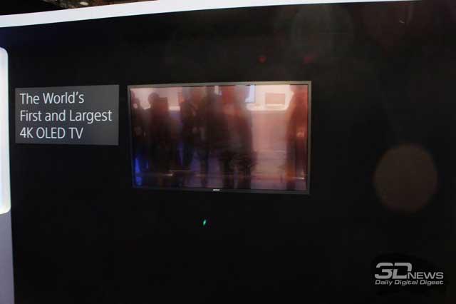 Sony продемонстрировала первый в мире 4K OLED-телевизор