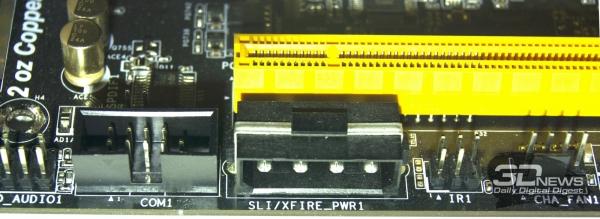 Дополнительное питание PCI-e — обзор материнской платы ASRock Z77 OC Formula