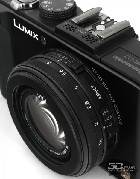 Panasonic Lumix DMC-LX7 — объектив