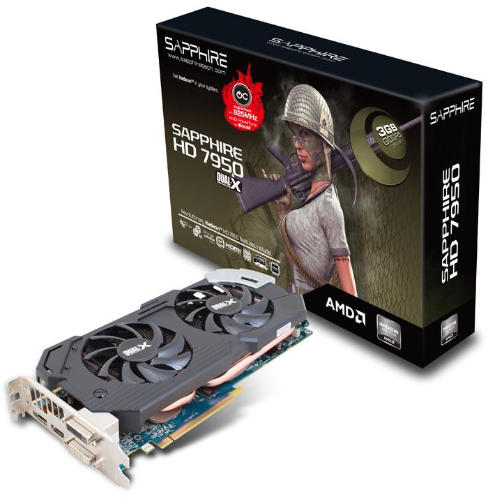 Sapphire Radeon HD 7950 3GB GDDR5 With Boost