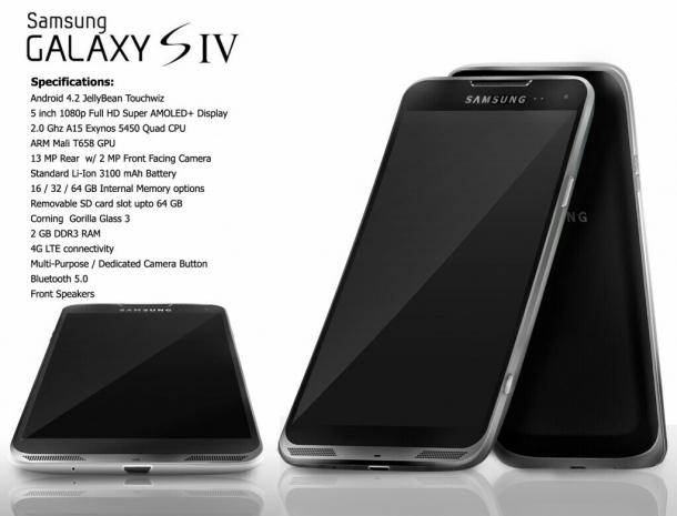 Новый концепт Samsung Galaxy S IV в металлическом корпусе