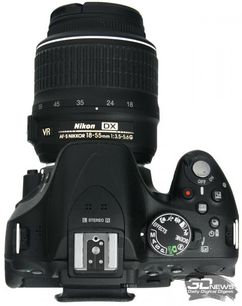 Nikon D5200 — вид сверху