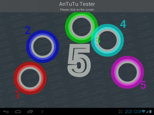 Результаты теста AnTuTu MultiTouch Test