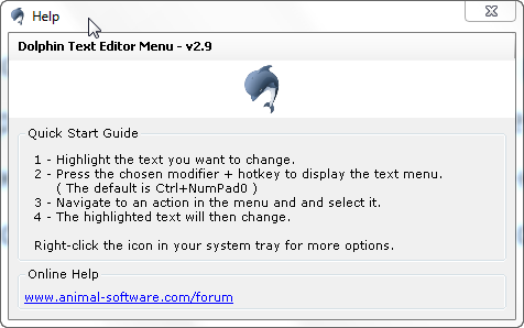 Dolphin Text Editor Menu